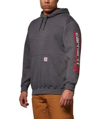 Midweight Hooded Canadian Logo-Sleeve Sweatshirt