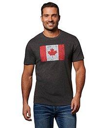 f01fb60b6c0c6 Logo T-Shirt Men's Jumpstart Canada Flag Graphic T-Shirt ...
