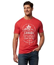 e478a3ff Logo T-Shirt Men's Canada Strong And Free Graphic T-Shirt ...