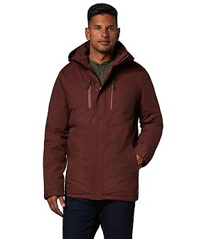 WindRiver Men's T-Max Insulated HD2 Water Resistant Mid-length Jacket