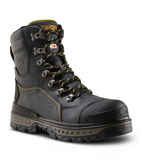 c0ba38a57f2 Men's 8516 8 Inch Composite Toe Compostie Plate HD3 Waterproof Safety Work  Boot