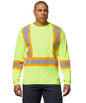 Dakota Men's Long Sleeve Lined Class 2 Hi-Vis T-Shirt