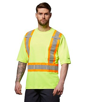 Dakota Men's Short Sleeve Lined Class 2 Hi-Vis T-Shirt