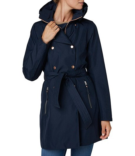 Women's Welsey II Waterproof Breathable Trench Coat - Navy