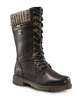 Denver Hayes Women's Laura Lace Up Boots - Black