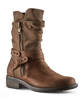 Denver Hayes Women's Angel Mid Zip-Up Boots-Brown