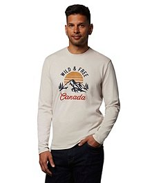 5d3f8aead WindRiver Men's Wild and Free Graphic Long Sleeve T-Shirt ...