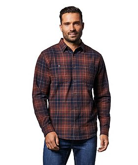 WindRiver Men's Basic Flannel Shirt - Classic Fit