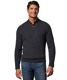 Denver Hayes Men's Popcorn V-Neck Sweater