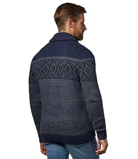 WindRiver Men's Heritage Fair Isle Button Cardigan