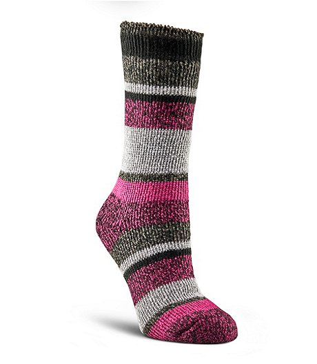 WindRiver Women's T-Max Striped Crew Socks