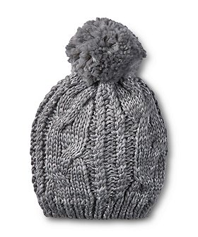 Denver Hayes Women's Cable Knit Lurex Toque With Self Pom