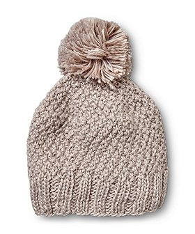 Denver Hayes Women's Plush Lined Knit Toque With Self Pom