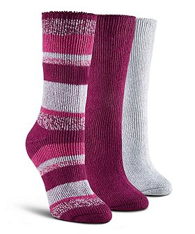 WindRiver Women's 3-Pack T-Max Crew Socks