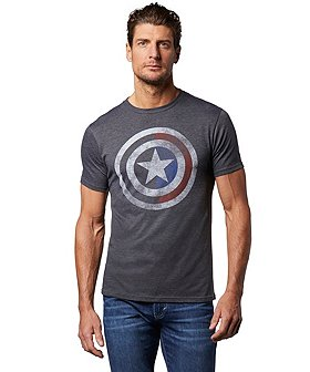 Logo T-Shirt Men's Captain America Graphic T-Shirt