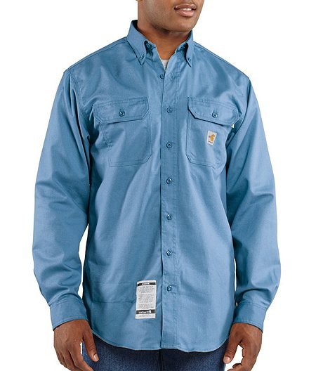 7433a25f9e0 Carhartt Men s Flame Resistant Button Front Twill Shirt With Pocket Flaps