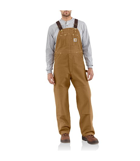 04a241801de Carhartt Men's Duck Unlined Bib Overalls