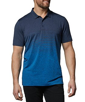 Matrix Men's DriWear Space-Dye Ombre Stripe Polo