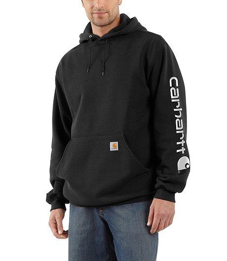 b12d7ce68 Carhartt Men's Midweight Hooded Logo-Sleeve Sweatshirt