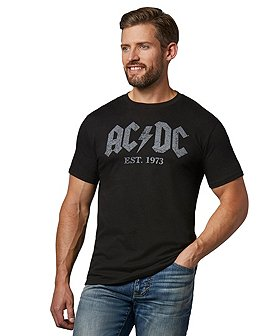 Logo T-Shirt Men's AC/DC Est. 1973 Graphic T-Shirt