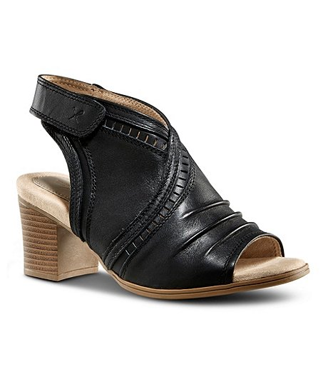 Women's Meghan V-Cut Leather Sandals