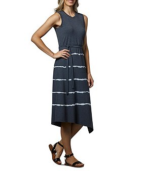 Denver Hayes Women's Knit Asymmetrical Mid Length Tank Dress