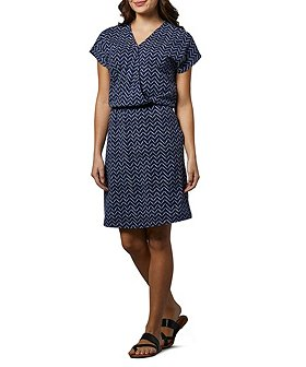 Denver Hayes Women's Knit Faux Wrap Dress