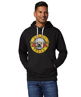 Licensed Logos Men's Guns N' Roses Graphic Logo Hoodie