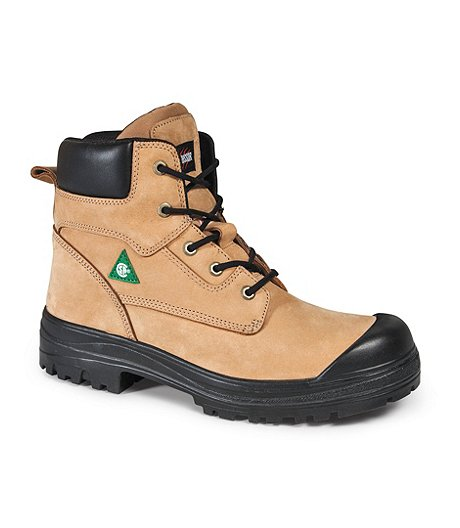 Men's Steel Toe Steel Plate Lynx II 6 Inch Leather Work Boots - Tan