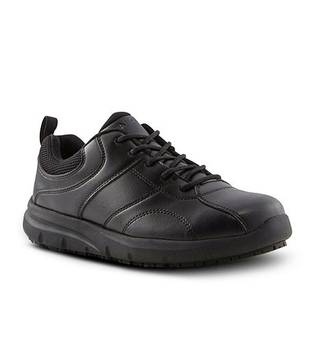 Women's Non Safety Anti Slip Lace Up Shoes - Black