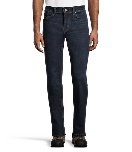 Men's Stretch Straight Jeans Dark Wash