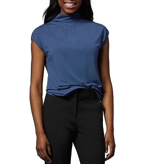 Women's Relaxed Mock Neck Top