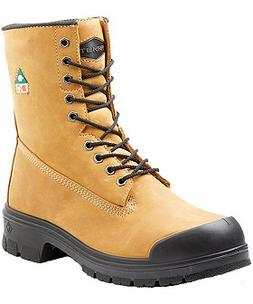Terra Men's 8 In Steel Toe Steel Plate Work Boots with TPU Toe Cap Work Boots