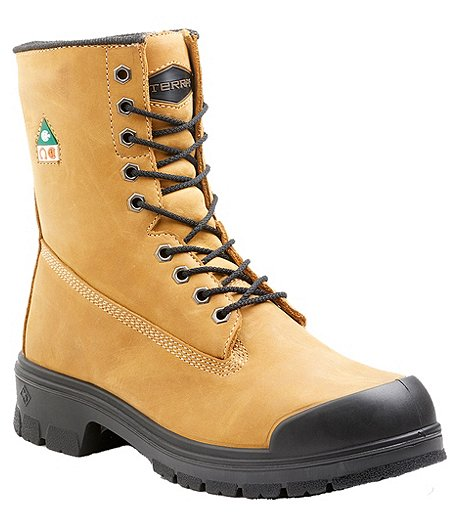57863061ecb Men's 8'' Steel Toe Steel Plate Work Boots with TPU Toe Cap