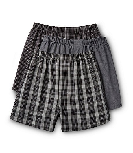 Men's 3 Pack Classic Woven Boxers