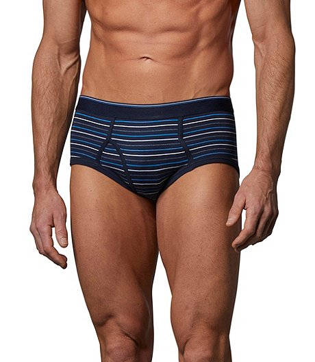 Men's Yarn Dye 3-Pack Basic Briefs