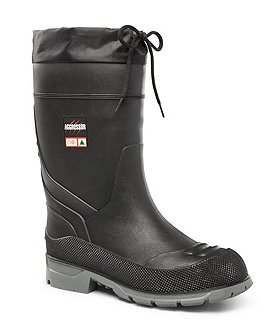 Aggressor Men's Insulated Steel Toe Steel Plate Rubber Boots