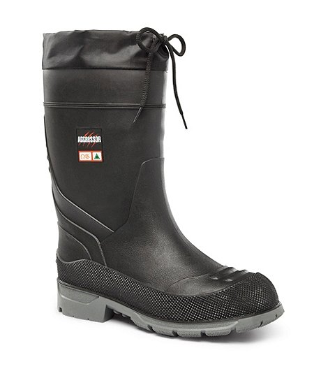 463f36fdfca Men's Insulated Steel Toe Steel Plate Rubber Boots