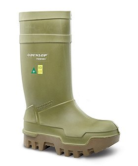 Dunlop Men's Steel Toe Steel Plate PU Cold Weather Boots
