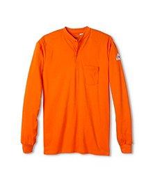 7427f6a6a120 Bulwark Men s Long Sleeve Flame Resistant Henley Shirt ...