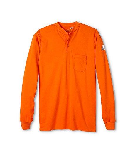 500c22e74cd1 Bulwark Men s Long Sleeve Flame Resistant Henley Shirt