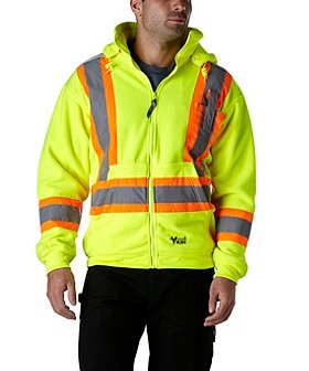 Viking Men's Hi-Vis Hooded Zip Sweatshirt
