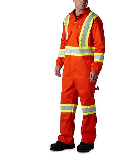 00dde32fedbb Stalworth Men s Coverall With Reflective Tape Zip-Front ...