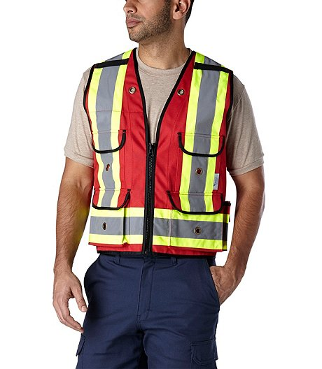 e9784b254c18c MEN'S ALL-TRADES RED SURVEYOR SAFETY VEST | Mark's
