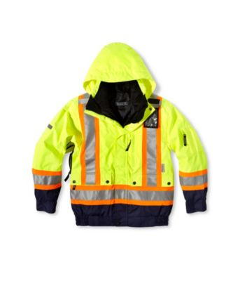 Men's Dakota Hi-Vis HD3 T-MAX Lined 3-In-1 Bomber Jacket Lime Large / Regular