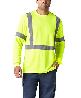 Coolworks Men's Lime Hi-Vis Long Sleeve T-Shirt
