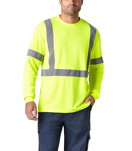 4fdcacd387 Coolworks Men's Lime Hi-Vis Long Sleeve T-Shirt