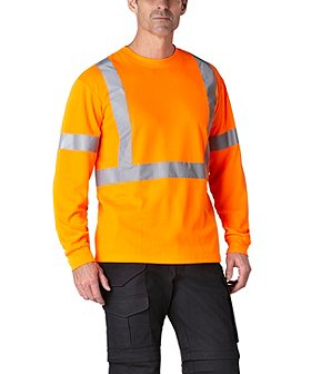 Coolworks Men's Orange Hi-Vis Long Sleeve T-Shirt