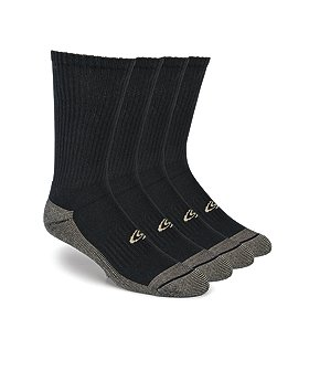 Copper Sole Men's 4-Pack Crew Socks