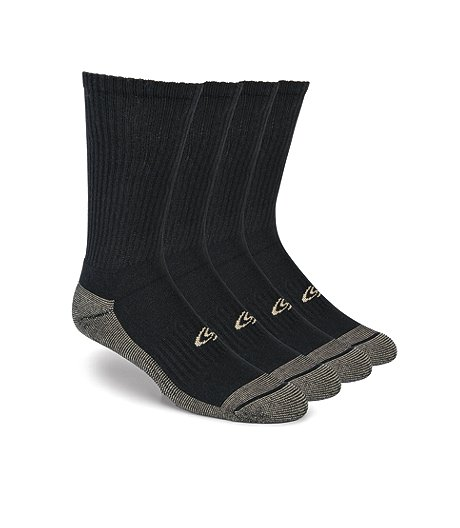 86e1d72b9ff Copper Sole Men s 4-Pack Crew Socks